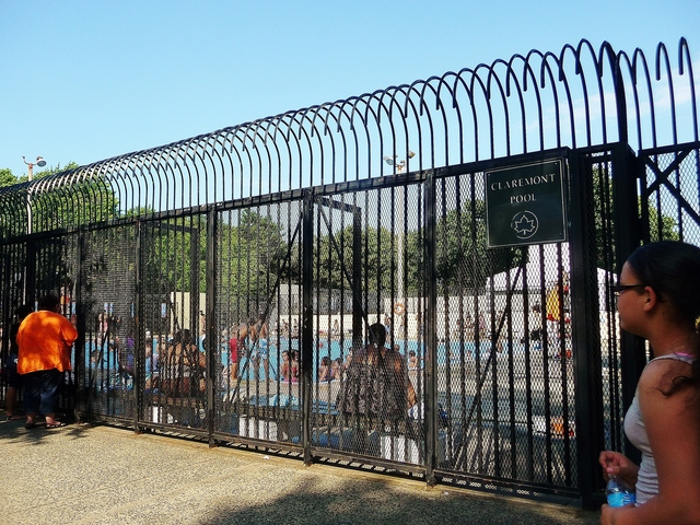 Claremont Park Pool in The Bronx