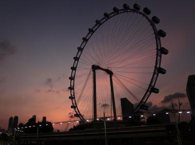 The Singapore Flyer, which is currently the largest ferris wheel in the world.