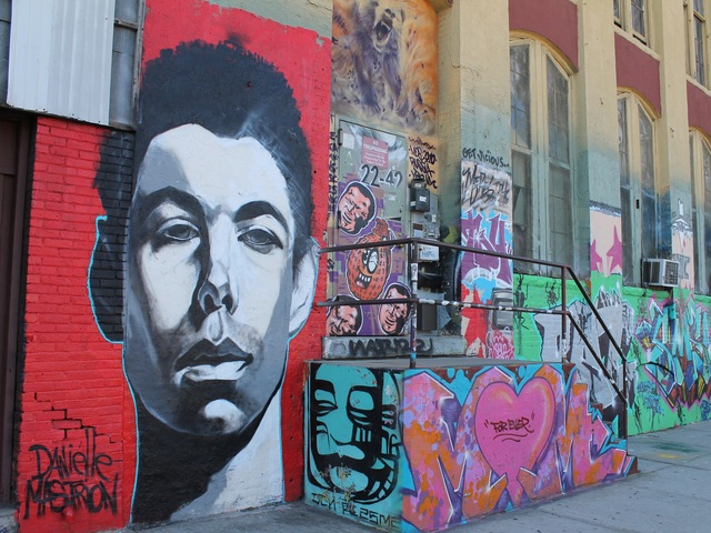 Graffiti tribute to Adam Yauch.