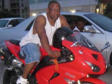 Reginald Brown, 47, was killed Monday after his motorcycle collided with a fire truck in Bed-Stuy.