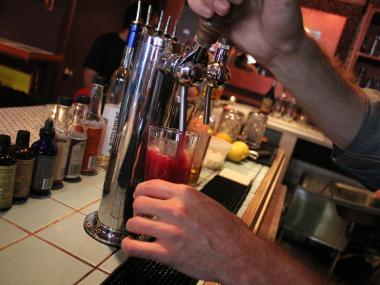 A Prim and Proper is poured straight from the tap at Amor y Amargo on East Sixth Street.