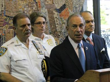 "Mayor Bloomberg called Thursday's shooting ""a close call, one that too many New York City police officers have experienced this year."""
