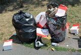 Mountains of Trash Overflow from Riverside Park Cans After July 4 Parties