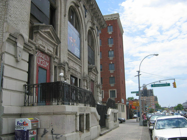 <p>The Brooklyn Lyceum on Fourth Avenue and President Street.</p>