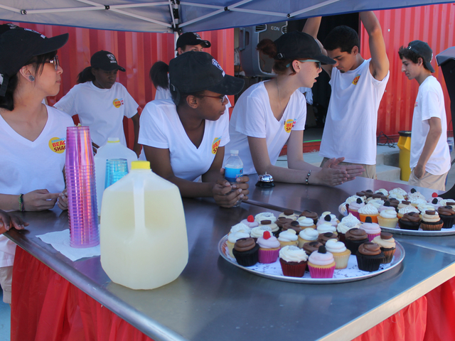 Free cupcakes were served Friday morning in honor of the pool opening.