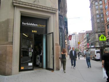 The comics shop Forbidden Planet will leave 840 Broadway and move down the block in July 2012.