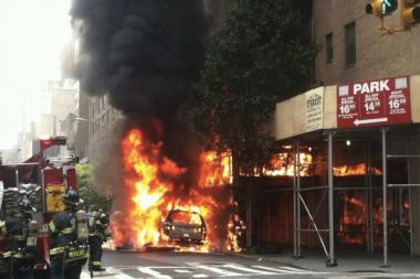 A fire on Lexington Avenue set a building aflame in