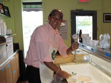 Malu, a Long Island City ice cream parlor is plannig to create a Romney Ice Cream and an Obama Ice Cream.