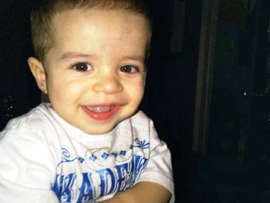 Isaiah Rivera, 3, was shot in the leg at 383 Pulaski St. in Brooklyn on July 8, 2012.