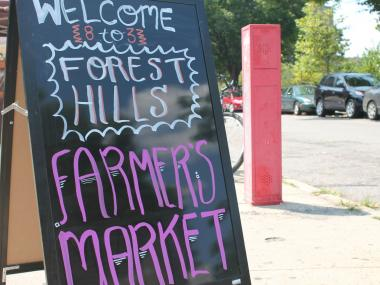 The first Forest Hills Greenmarket; July 8, 2012.