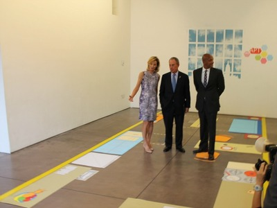 <p>City officials toured the &#39;micro-unit&#39; mock-up, which fits eating, living and sleeping space in a single room.</p>