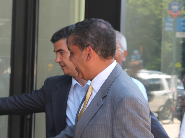 State Sen. Adriano Espaillat said he would alert media on his decision whether to run for reelection in the State Senate later in the week during a press conference held on July 10, 2012.