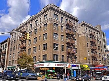 An apartment fire broke out in a six-story building in Washington Heights on July 9, 2012.