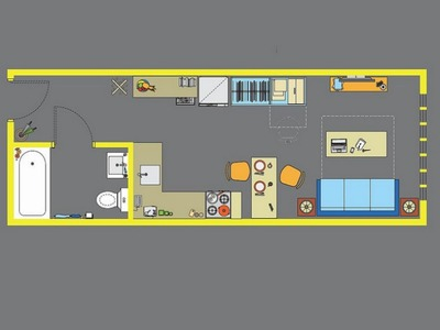 <p>A model floor plan for one of the new &quot;micro-units.&quot;</p>