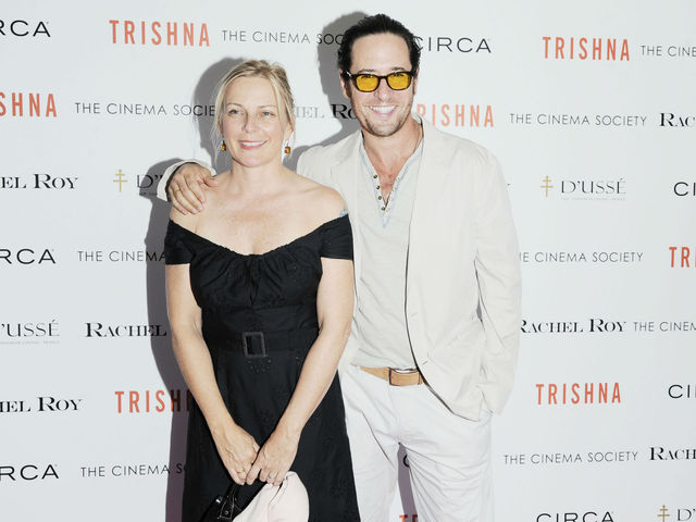 Debbon Ayer and Rob Morrow at the Cinema Society screening of