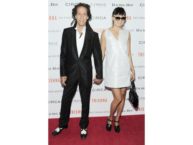 Leancho Perez and Irina Pantaeva at the Cinema Society screening of
