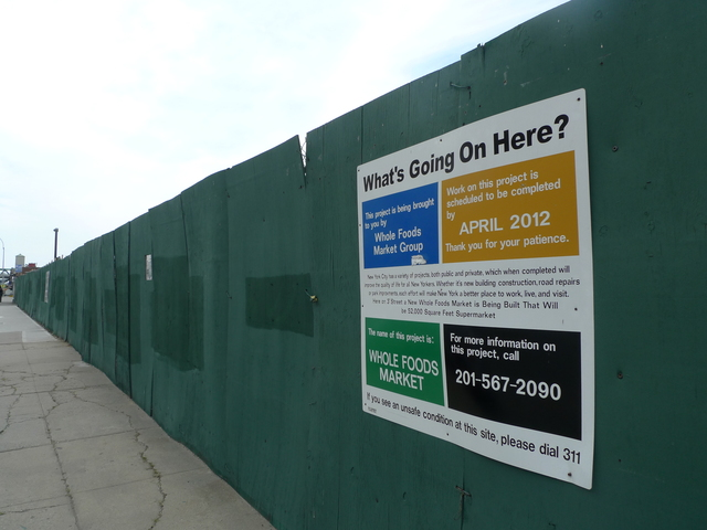 <p>The Whole Foods construction site in Gowanus on Third Street and Third Avenue.</p>