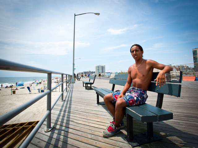 Iban Gamba, 19, from Rockaway Beach, started surfing as a way to improve his skateboarding skills.