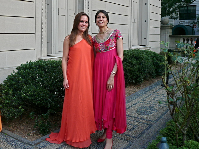 Garden Party event leadership Lisa Volling and Ayesha Bulchandani- Mathrani in vivid hues