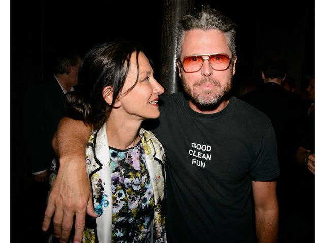 Designer Cynthia Rowley and Bill Powers  at the premiere of