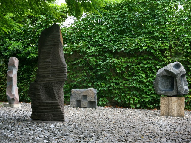 <p>Sculpture Garden, The Noguchi Museum. The permanent collection of roughly 360 works — installed by the artist himself in the museum and sculpture garden he created for them — was unaffected.</p>