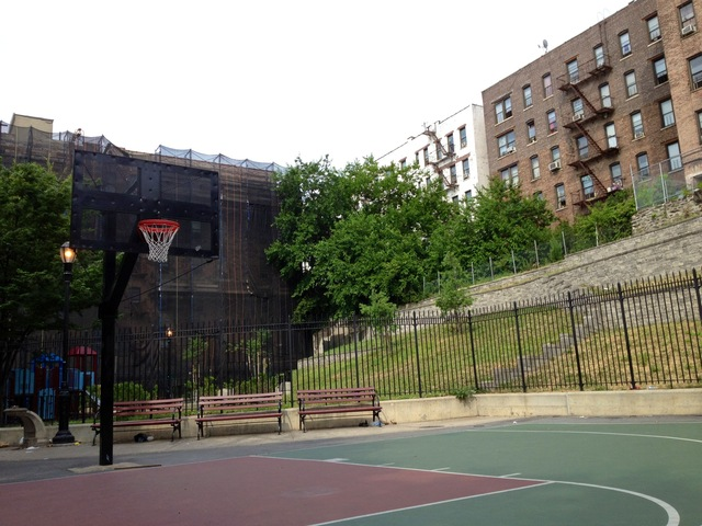 Half-Nelson Playground Basketball Court