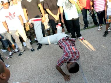 A break dancer at the Crotona Park Jam on July 12, 2012. The annual event harkens back to hip hop's early years.