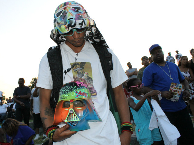 Vader at the Crotona Park Jams DJ show on July 12, 2012.
