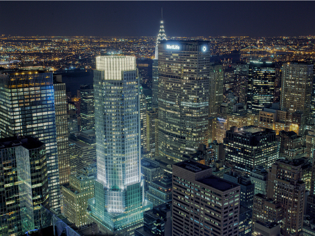 <p>The areas around Grand Central Terminal will have lower zoning regulations than the area immediately surrounding the transit hub. But some buildings could still rise as tall as 383 Madison Ave. (with the illuminated crown), which has 47 stories.</p>