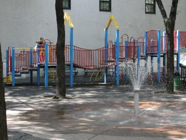 The aging equipment in Matthews-Palmer Playground.