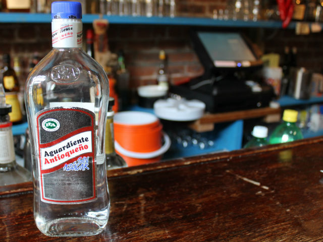 Aguardiente is a strong Colombian liquor that tastes like aniseed.