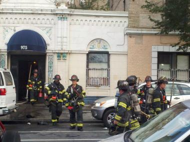 More than 200 firefighters battled a six-alarm fire in the Concourse section of the Bronx early Wednesday, July 18, 2012, the FDNY said.