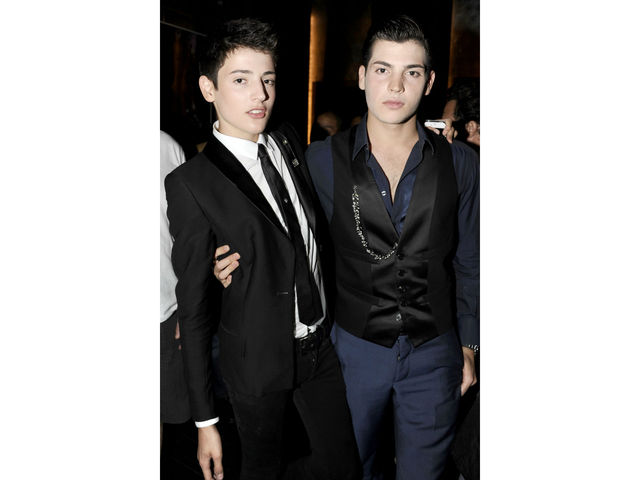 Harry Brant and Peter Brant Jr. at the Hudson Jeans Cabaret at the Electric Room, Wednesday, July 18, 2012.