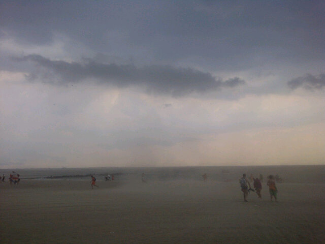 """Sky cracking open at coney island- electric storm had everyone running for cover. Beautiful."" -- @vivaruiz"