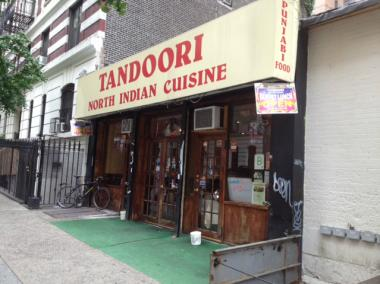 Tandoori restaurant, at 210 W. 94th St.
