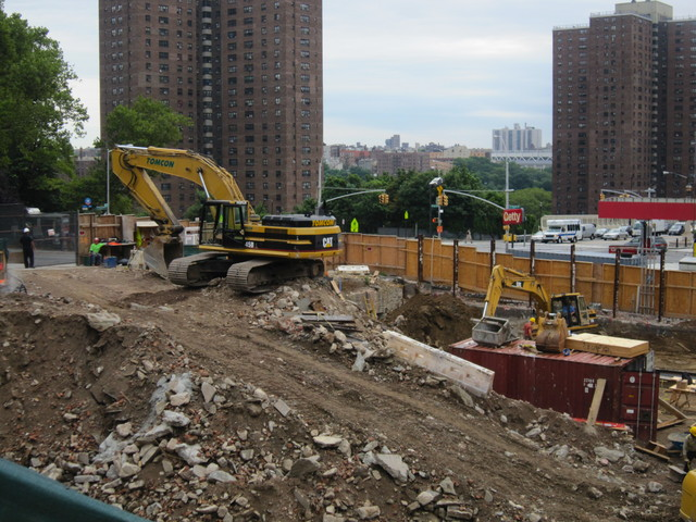 The site of the new mueseum and affordable housing at 155th Street and St. Nicholas Avenue in Harlem's Sugar Hill neighborhood.