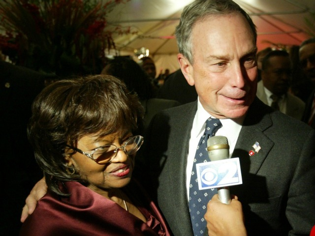 Mayor Michael Bloomberg with Sylvia Woods at her 80th birthday party.