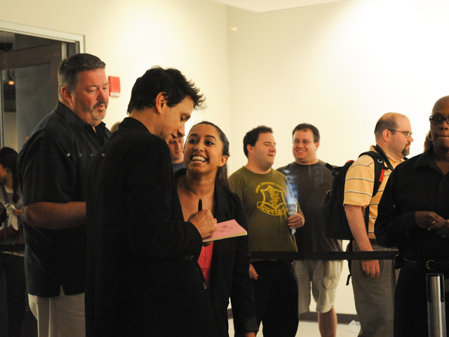 Ralph Macchio during a meet and greet with fans after the screening.