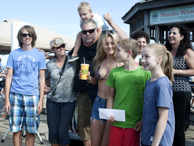 Vincent D'Onofrio and his brood won first prize July 21, 2012 in the Coney Island Sand Sculpting contest.