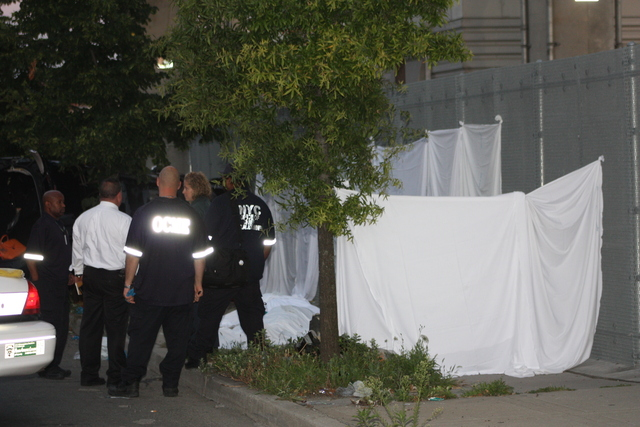 Cops block the area where five died July 22, 2012 car accident on Atlantic Avenue.