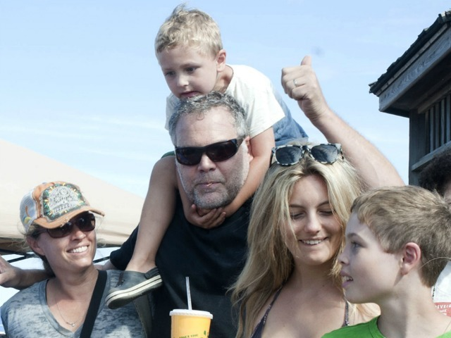 Vincent D'Onofrio and his family won first prize July 21, 2012 in the Coney Island Sand Sculpting contest.