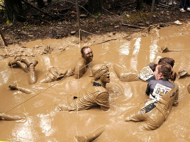 The final, mud-covered leg of the Down & Dirty National Mud and Obstacle Series