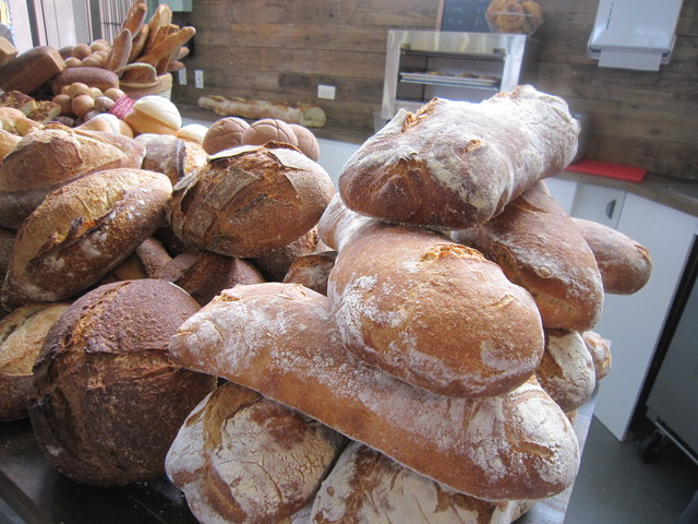 Fresh breads at Hot Bread Kitchen Almacen.