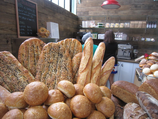 Fresh breads for sale to the general public atHot Bread Kitchen Almacen.