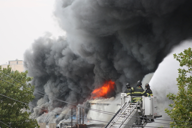 A three-alarm fire broke out at 3250 Fulton St.