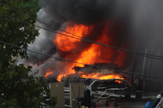 Seven firefighters were injured while battling a seven-alarm fire in Cypress Hills on July 24, 2012.