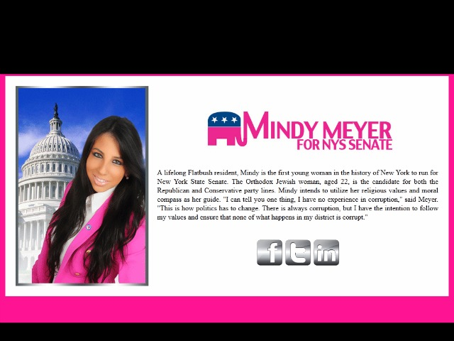 Mindy Meyer's flashy website has been turning heads.