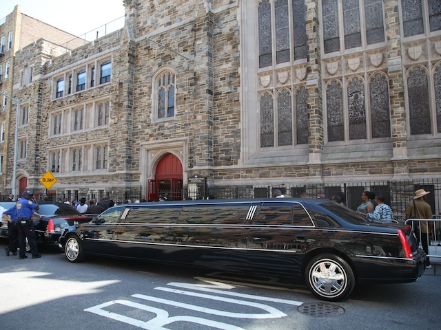 A public wake was held at Harlem's Abyssinian Baptist Church for famed local restaurant owner Sylvia Wood of the legendary Sylvia's restaurant.
