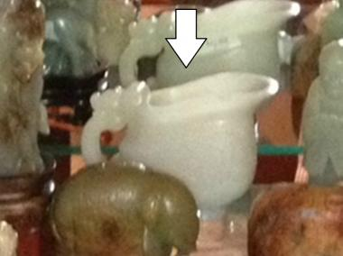 A thief snatched this 18th-century jade cup from an Astoria antiques story July 17, 2012, the NYPD said.