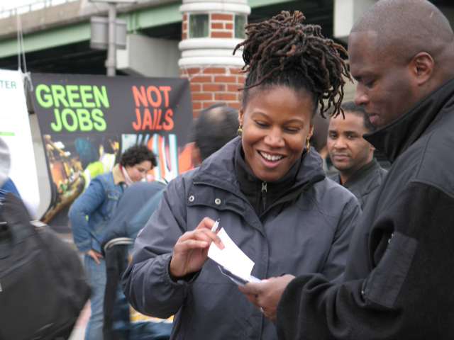 <p>Majora Carter, a green jobs consultant, was hired by FreshDirect to round up local support for their planned Bronx move. She introduced the company&#39;s co-founder at TEDxManhattan.</p>